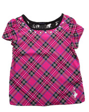 Baby Phat - PLAID TOP W/ LACE (4-6X)