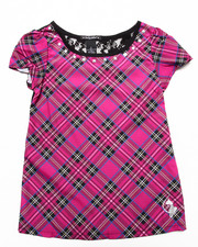 Baby Phat - PLAID TOP W/ LACE (7-16)