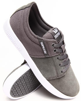 Supra - Stacks 2 Charcoal Suede/Canvas Sneakers