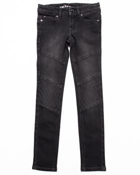 DKNY Jeans - BLACK QUILTED MOTO JEANS (7-16)