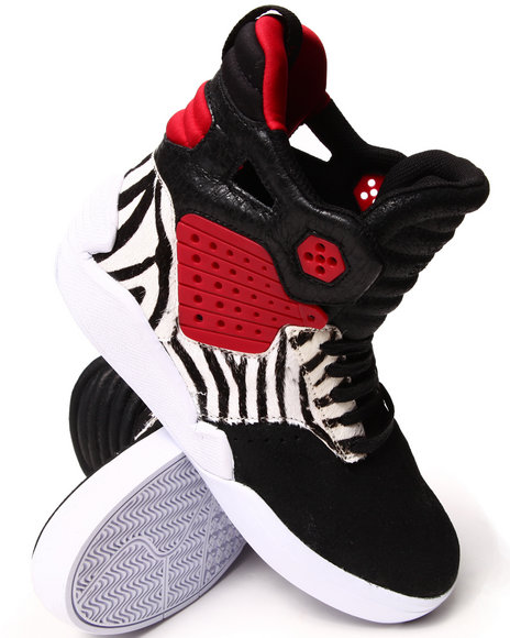 Supra - Men Black Skytop Iv Kamikaze Sneakers