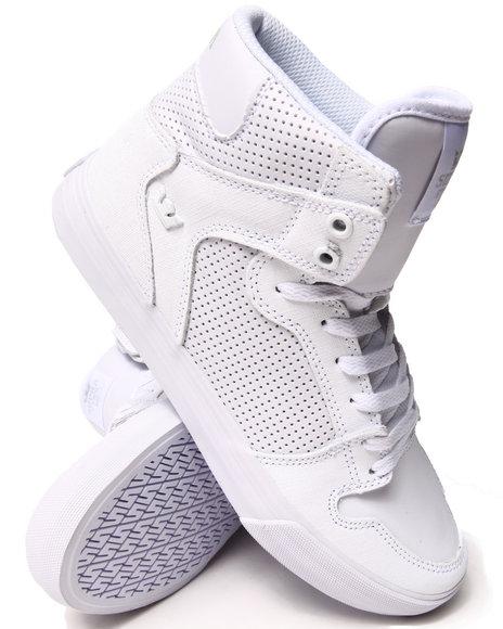 Supra White Vaider White Gunny Tuf Sneakers