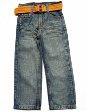 "Boys - BELTED ""A"" POCKET JEANS (4-7)"