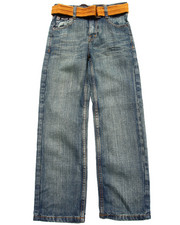 "Boys - BELTED ""A"" POCKET JEANS (8-20)"