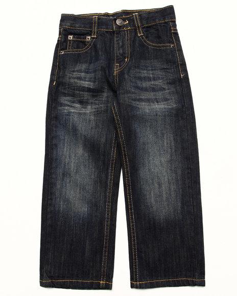 Akademiks - Boys Medium Wash Fanback Pocket Jeans (4-7)