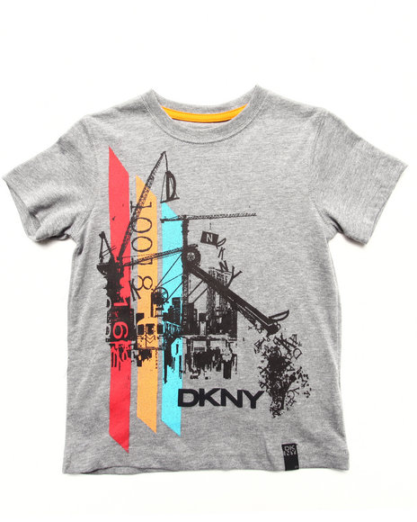 Dkny Jeans - Boys Light Grey Hydraulic Tee (4-7)