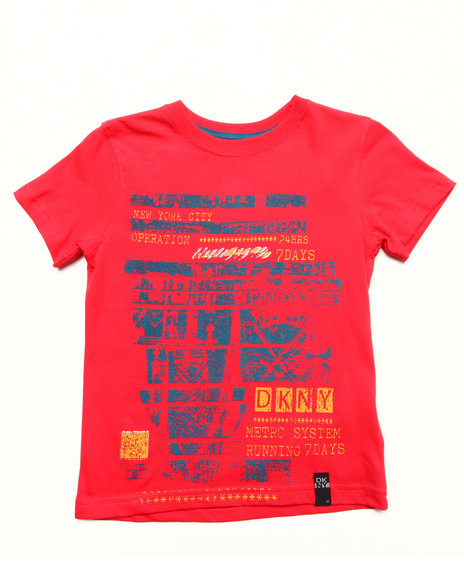 DKNY Jeans Boys Red Operator Tee (4-7)