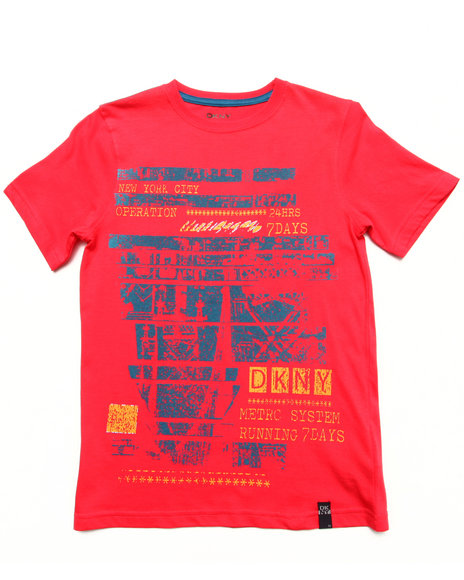 DKNY Jeans Boys Red Operator Tee (8-20)