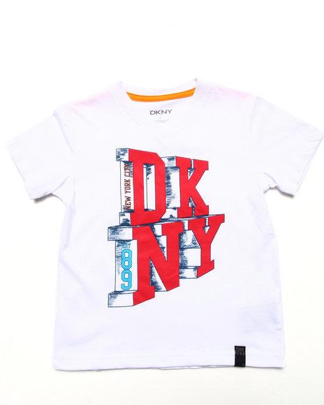 DKNY Jeans Boys White City Life Tee (4-7)