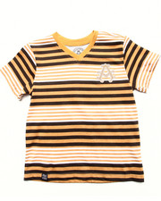 Akademiks - STRIPED V-NECK TEE (4-7)