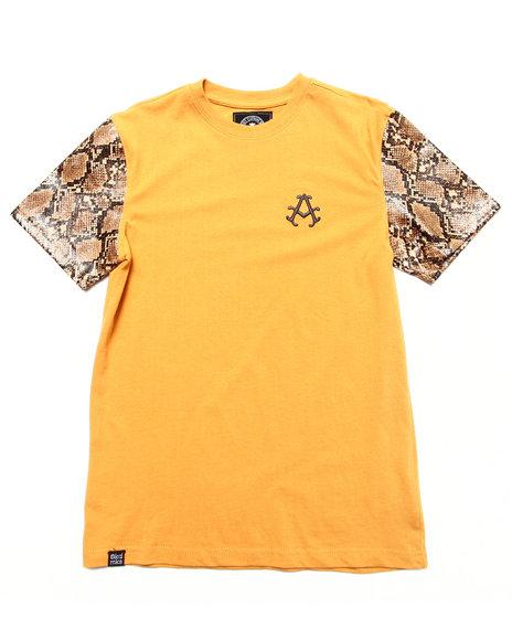 Akademiks Boys Khaki Snake Skin Sleeve Tee (8-20)