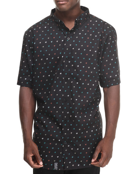 Lrg Hound Doggie S/S Button-Down (Big & Tall) Black 3X-Large