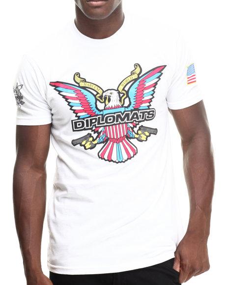 Diplomats - Men White Dipset Usa Eagle Logo Tee