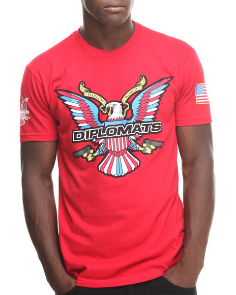 Diplomats Red Dipset Usa Eagle Logo Tee