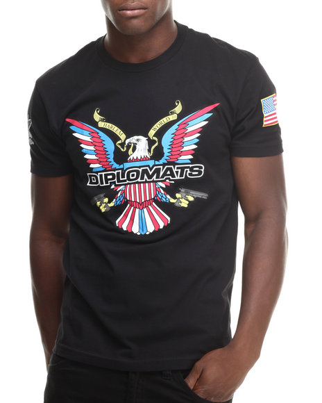 Diplomats Black Dipset Usa Eagle Logo Tee