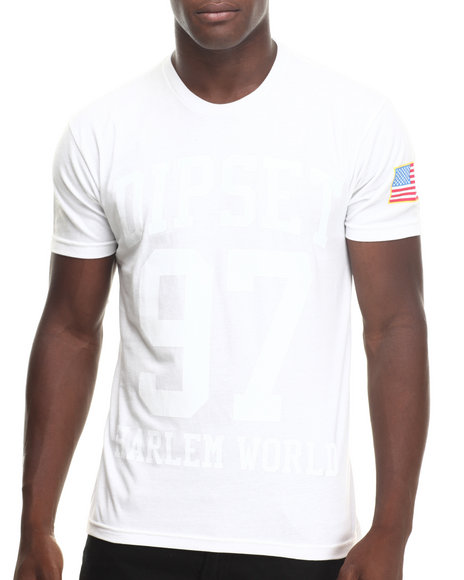 Diplomats - Men White Dipset Harlem World B/W Tee - $18.99
