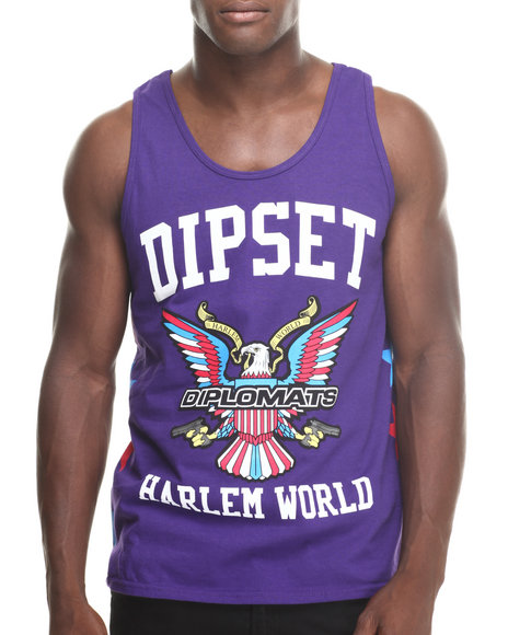 Diplomats - Men Purple Dipset Stars Killa Tank