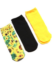 Women - NO SHOW SUNFLOWER 3-PACK