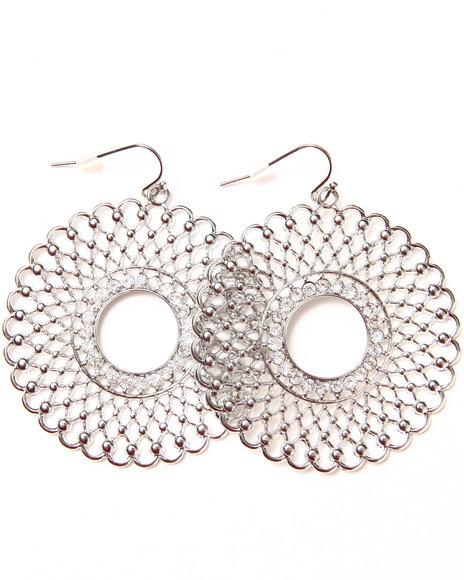 Rampage Filigree Donut Earrings Silver