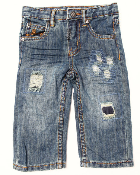 LRG - Boys Medium Wash Destructed Jeans (Infant)