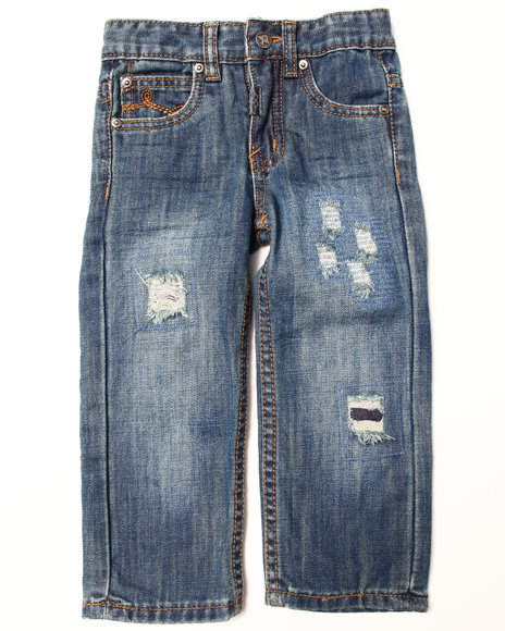 LRG - Boys Medium Wash Destructed Jeans (2T-4T)