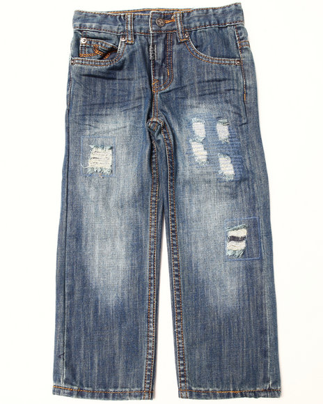 LRG - Boys Medium Wash Destructed Jeans (4-7)