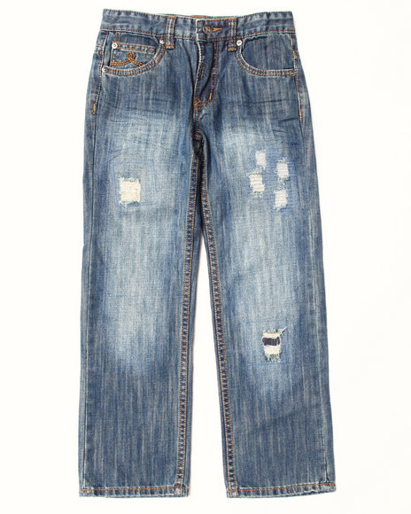 LRG - Boys Medium Wash Destructed Jeans (8-20)