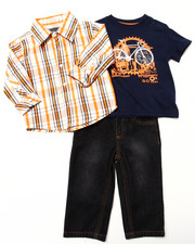 Boys - 3 PC SET - WOVEN, TEE & JEANS (INFANT)
