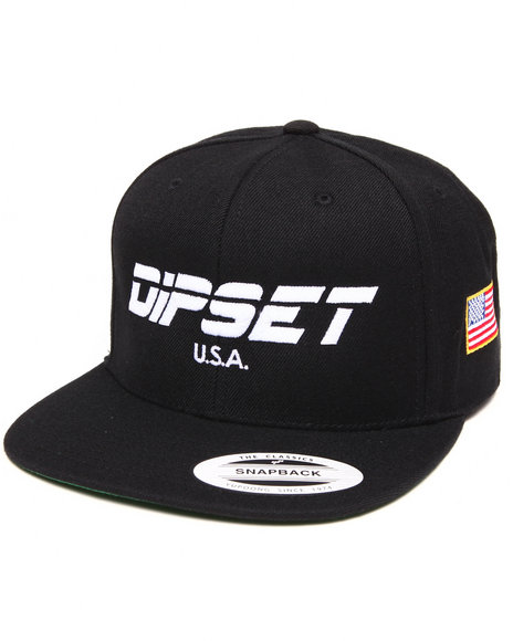 Diplomats Men Dipset Usa Snapback Cap Black