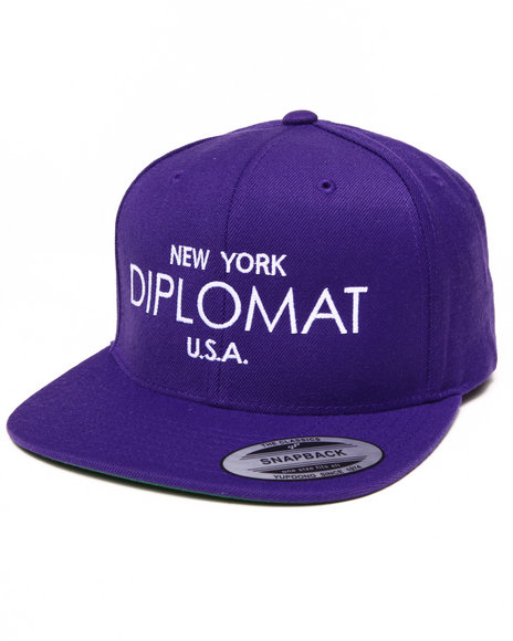 Diplomats Men Ny Diplomat Usa Snapback Cap Purple