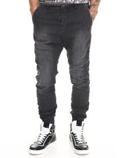 Men - Slingshot Blow out Black Jean