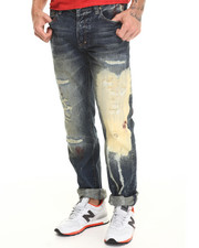 Straight - Pearl Barracuda Bleached & Ripped Jean