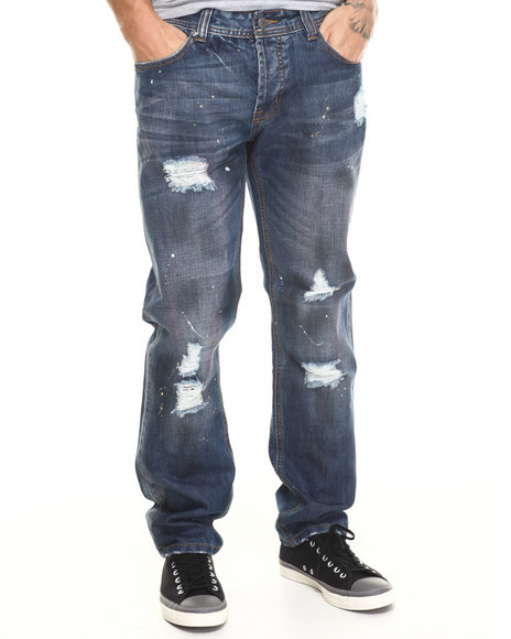Kilogram - Men Dark Wash Plumber Denim Jeans