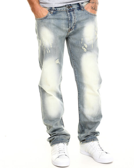 Distressed Mens Jeans
