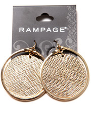 Jewelry - Textured Coin Centered Hoop Earrings