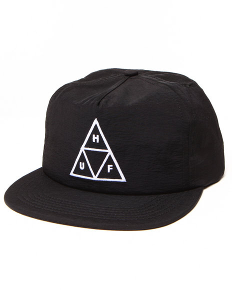 Ur-ID 222902 HUF - Men Black Triple Triangle Snapback Cap
