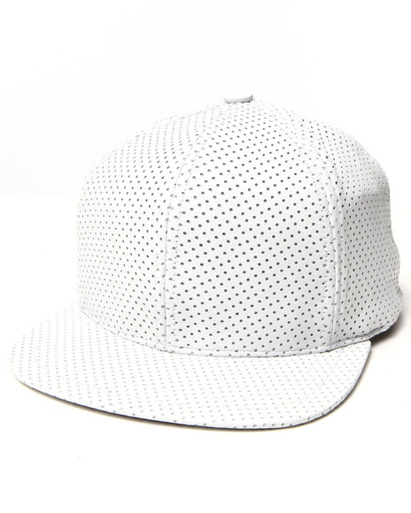 Paislee Men Open Air Leather Perforated Hat White - $66.99