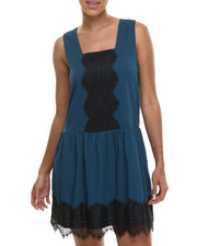 Fashion Lab - Camie Sleeveless Woven Dress w/drop waist