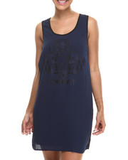 Fashion Lab - Liz Sleeveless Two-Tone Woven dress