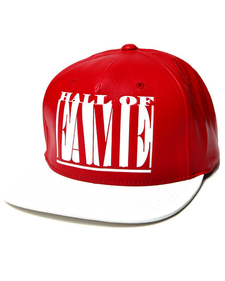 Hall Of Fame Tall Boy Strapback Cap Red