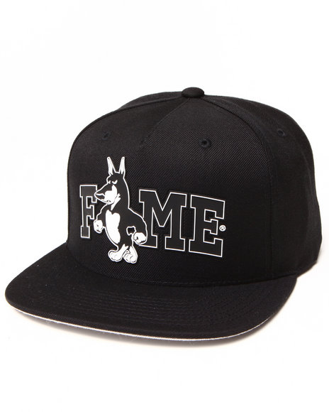 Hall Of Fame Adog Snapback Cap Black