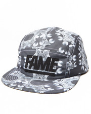 Hall of Fame - Leather Block Camper 5-Panel Cap