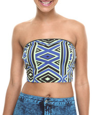 Baby Phat - Zip Trim Bustier Crop Top