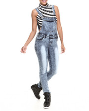 Fashion Lab - Classic Skinny Denim Overall