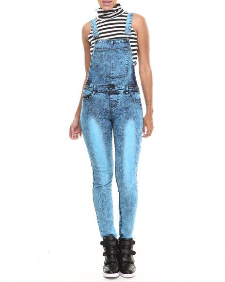 Fashion Lab - Women Blue Classic Skinny Denim Overall