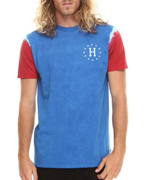 Huf - Men Blue,Red 12 Galaxy Sleeve Wash Tee