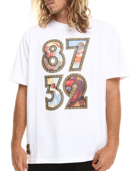 Eight 732 White Painted T-Shirt