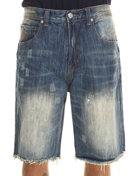 Kilogram - Vein Denim Shorts