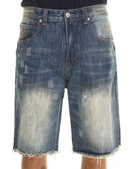 Kilogram Medium Wash Vein Denim Shorts