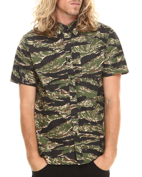 Huf - Men Camo Camo Utility S/S Button-Down